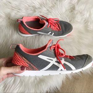 ASICS Metrolyte Walking Shoes Womens 9 Gray Orange